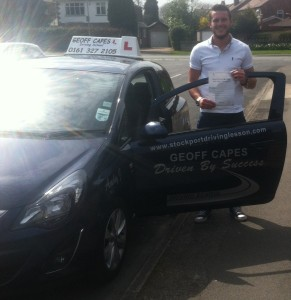 Well done David from Poynton for passing 1st time